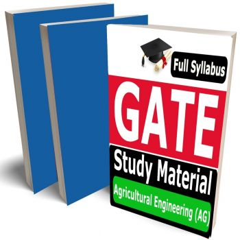 GATE Agricultural Engineering Study Material (AG) Lecture Notes (Topic-wise) Buy Online Full Syllabus Covered Books (Study Notes)