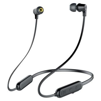 Infinity(JBL) Glide N100 Bluetooth Neckband with Deep Bass Dual EQ Wireless Earphones & Sweatproof (Charcoal Black)