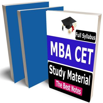 MBA CET Study Material, Buy Full Syllabus Covered Books (Best Handwritten toppers notes)