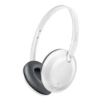 Philips SHB4405WT/00 Bluetooth Wireless On-Ear Headset  (White)