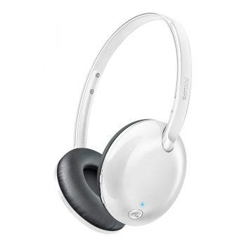 Philips SHB4405WT/00 Bluetooth Wireless On-Ear Headset  (White)
