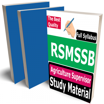 RSMSSB Agriculture Supervisor Study Material (Topic-wise), Buy Full Syllabus (Non-TSP & TSP Area) Best Handwritten Toppers Notes