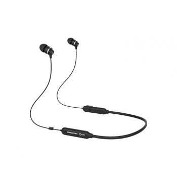 Samsung ITFIT A08B, Bluetooth Earphone with Flexible Neckband and handsfree Mic, playback up to 6 Hours (In-Ear, Black)