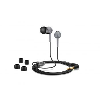 Sennheiser CX 180 Wired Headset Street II without Mic (Black, Grey, In-Ear)