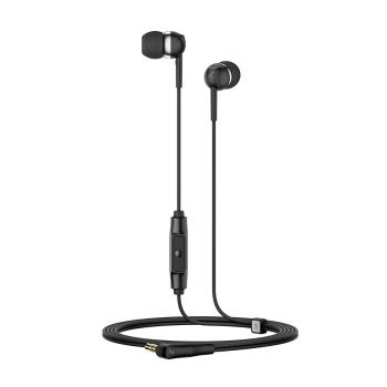 Sennheiser CX 80S Earphones Wired Headset with Mic (Black, In-Ear)