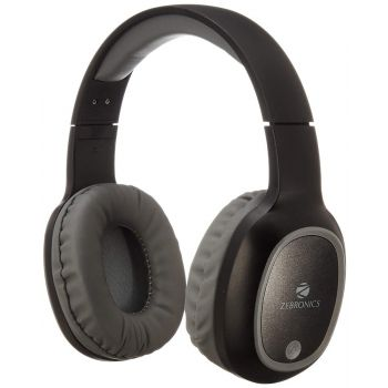 Zebronics Zeb-Thunder Wireless Bluetooth Headphone with Mic  40mm Drivers, AUX Connectivity, Call Function, 9Hrs Playback (Black)