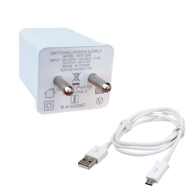 OPPO AK913GB Original Fast Charger With USB Type-A Cable 2 A Mobile Charger (White)